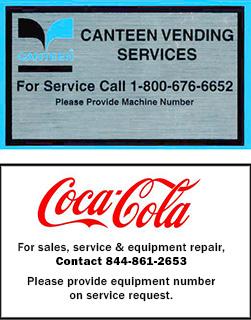 coca cola machine service number
