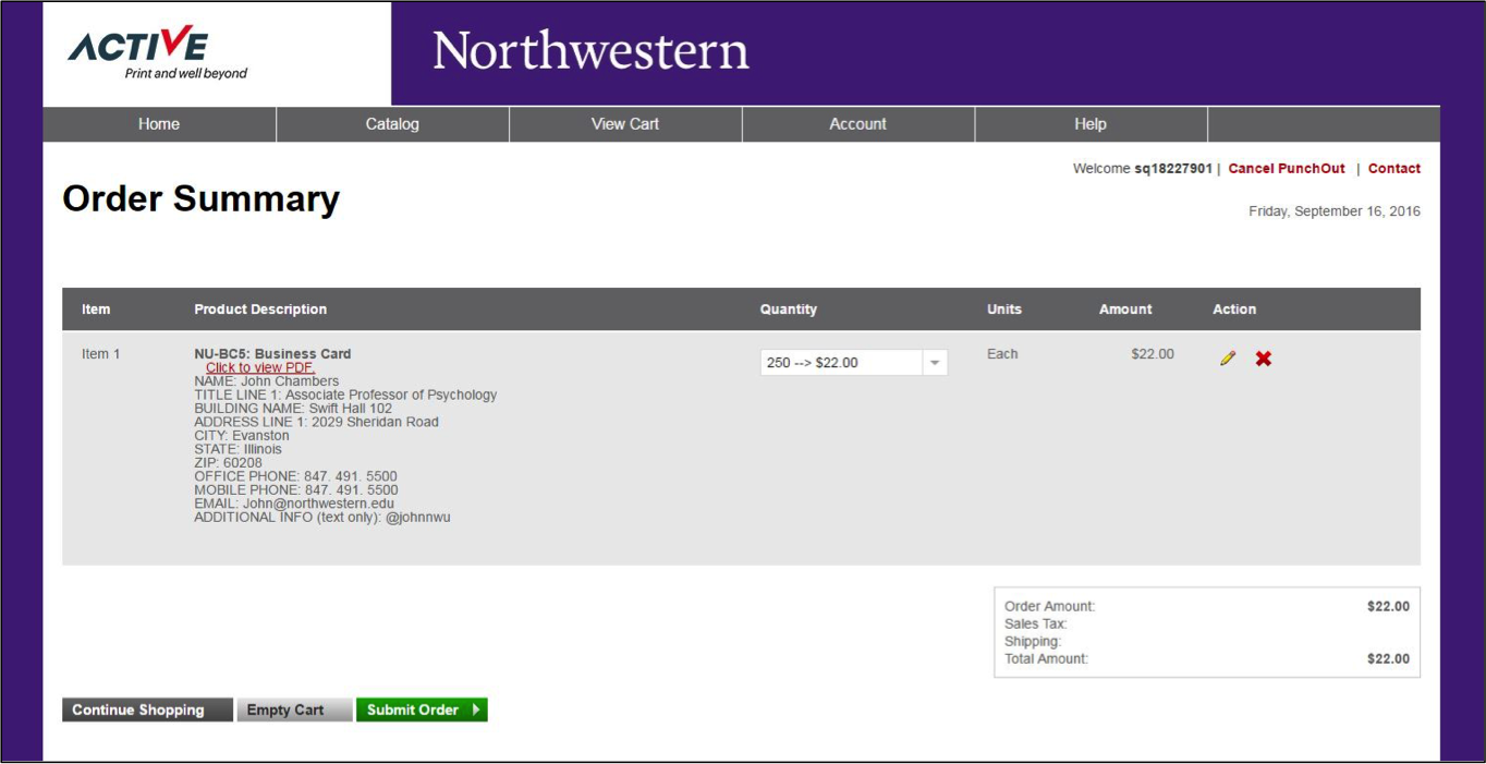 Business Cards and Letterhead: Brand Tools - Northwestern University