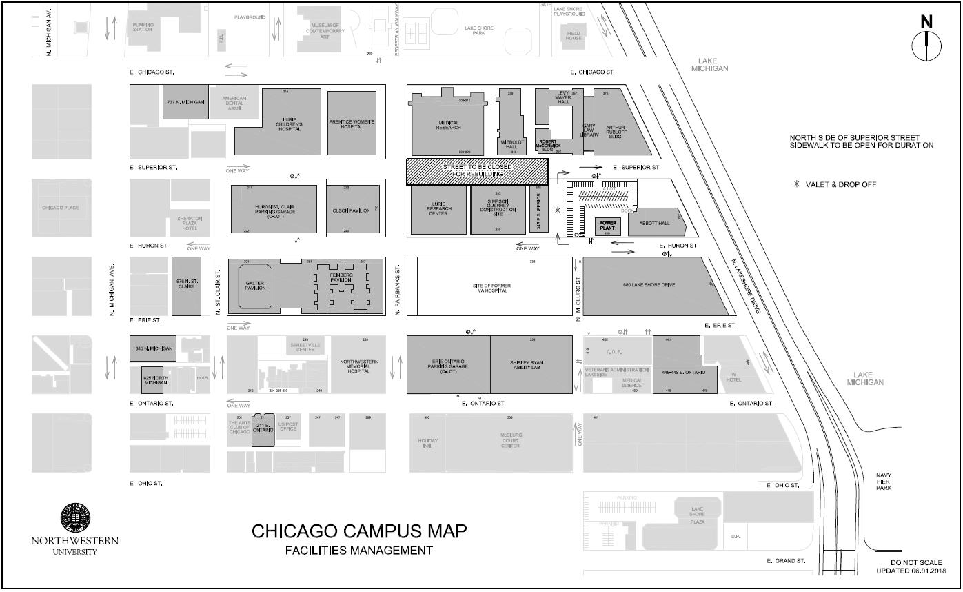 Estimate Car Payment >> Maps: Facilities - Northwestern University