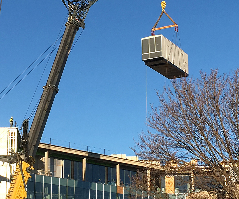 Mudd Hall Crane Lift Facilities Northwestern University