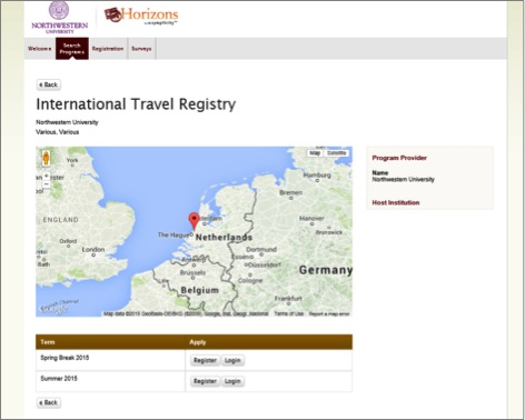International Travel Registry Instructions: Global Safety and