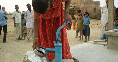Picture of women getting water