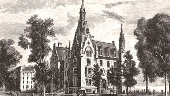 1869 - Construction on University Hall, today's oldest campus building, is completed following the tumultuous years of the Civil War.