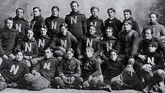 1896 - Representatives from seven Universities, including Northwestern, meet to create a permanent faculty organization to supervise sports among the group. Today, this group is known as the Big Ten Conference.