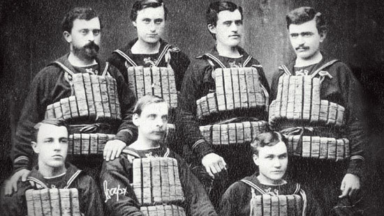 1871 - After Northwestern students saved dozens from a tragic boat accident in 1860, the federal government presented the university with a lifeboat to establish a lifesaving station on Lake Michigan. Students manned this station until the U.S. Coast Guard relieved them in 1916.