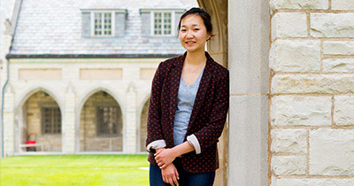 Photo of Hayeon Kim on campus