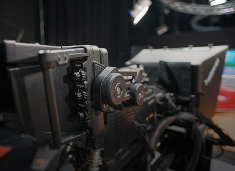 Picture of a television camera