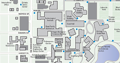 Maps Northwestern University - U of a campus map