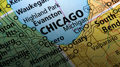 Map of Evanston/Chicago