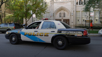 Picture of a Northwestern Police Car