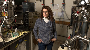 Amy Rosenzweig standing in her laboratory