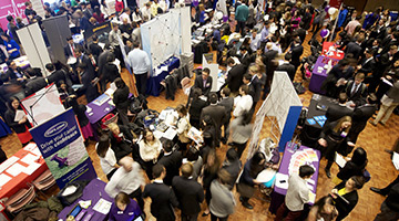 A picture of a career fair