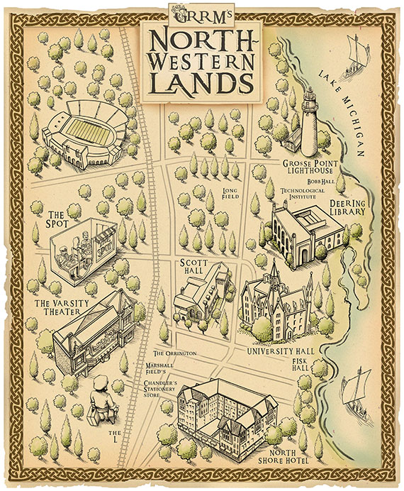 Game Master: Northwestern Magazine - Northwestern University on walking dead map, king of thrones map, world map, the game book map, harry potter book map, outlander book map, under the dome book map, king of thorns map, gameof thrones map, the mysterious island book map, wentworth prison scotland map, dothraki sea map,