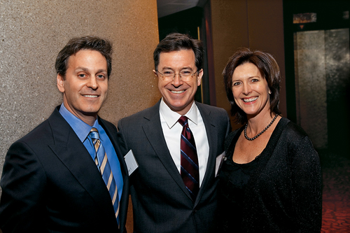 stephen colbert wife. with Stephen Colbert and