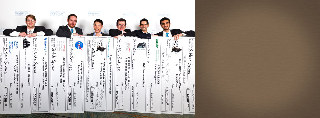 Students with big checks