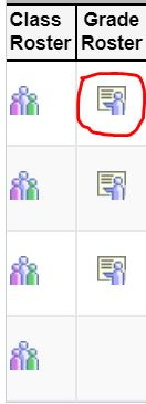 Image of grade roster icon