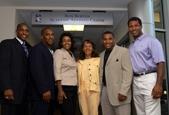 Family of Ron Burton celebrates dedication of new center.