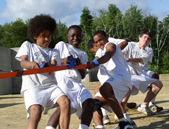 Tug of war at Ron Burton Training Village