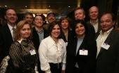 Former Northwestern Dental School faculty members including (back row, from left) former dean Lee Jameson, Joe Barss (D96), Marco Fajardo (D92), Ron Sims, Beth Grys (D90, GD96), Larry Salzmann (D79), Steve Marshall (D84, D86). Front row, from left: Ulana Kostiw Cirincione (D76, SCS78), Susan Mazzei (D87, 89), Maria Gracias (D90), Frank Perry attended the alumni midwinter reception in February.