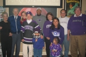 Members of the newly reinstated NU Club of Louisville celebrated the Sun Bowl at the Saints bar.