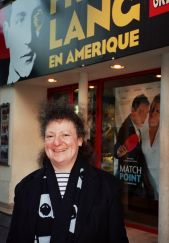 Lisa Nesselson outside French cinema