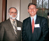 Professor David Zarefsky and NAA director at large David Eckert (McC77) at an NU Club of Boston event