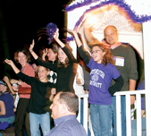 Friday night festivities such as the Homecoming Parade and Meadow Madness tent bash bring family fun to Fall Reunions and Homecoming Weekend.