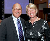 Chris Combe (WCAS70), left, national chair of Northwestern