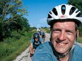 David Pokorny and friends near the Kansas border on his Ride to Pikes Peak. He biked alone through Kansas and Colorado.