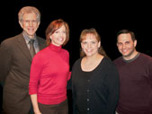 NUEA career panelists, from left, Tony Roberts, Rita Harvey, Jamibeth Margolis and Michael Kirsten
