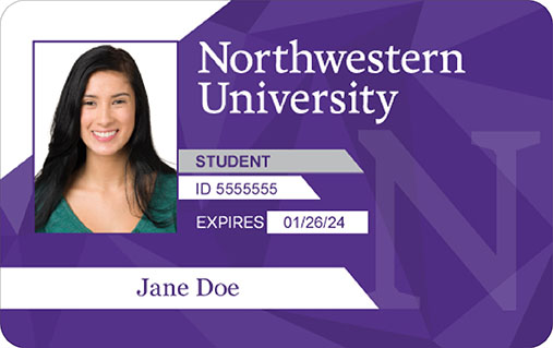 Wildcard northwestern university for University id card template